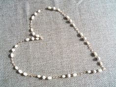 Necklace  Vintage Long Cream Beaded Necklace  by YouniquelyElegant, $15.00