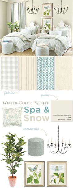 Winter Color Palette: Spa & Snow