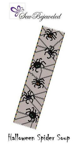 Halloween is one of my favorite times of the year and it is never too early to start preparing! This adorable bracelet pattern called Halloween Spider Soup features 6 black spiders hanging from a spooky web. The spiders have different colored eyes - orange, purple, and green which match the alternating colors on the edge of the pattern. This even count peyote pattern was created using 11/0 Miyuki Delica bead in 6 colors. With your purchase, you will receive a PDF file which will include...