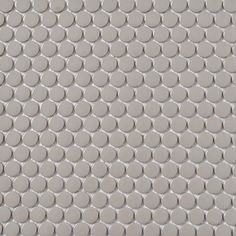 Shop Style Selections Grey Glazed Porcelain Mosaic Penny Round Wall Tile (Common: 12-in x 12-in; Actual: 12.75-in x 11.5-in) at Lowes.com