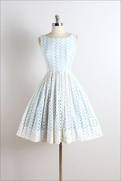 Vintage 50s Dress vintage 1950s dress white by millstreetvintage
