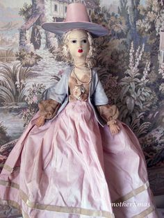 "Rare 25 "" all original Early French Frankowska Boudoir Doll from aeranth on Ruby Lane"