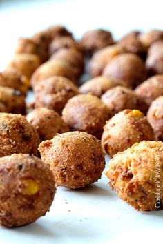 Bacon Pepper Jack Hushpuppies with Sweet Chili Dijon Dip (& 22 Other Game Day Recipes & Ideas)