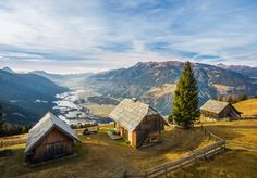 """Lindner Alm 2015-15-15 - a cabin with a nice vew... ...a very cool architecture shooting at the """"Lindner Alm"""" in Carinthia - Austria"""