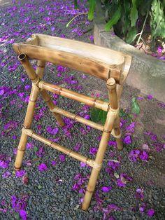 Thalentus – Bamboo Art - All About Bamboo Light, Bamboo Art, Bamboo Crafts, Modern Plant Stand, Diy Plant Stand, Bamboo Furniture, Garden Furniture, Street Furniture, Bamboo Planter