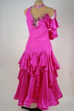 Hot Pink Dance Crepe & Stretch Satin Skirt