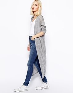 100% Cotton Maxi Jersey Cardigan