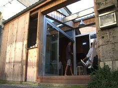 This is genius. I'm ready to move into a garage in France-anyone else? A former garage becomes a transformable, tiny home in Bordeaux, France