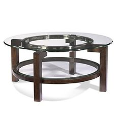 Bassett Mirror Oslo Round Cocktail with Glass Top