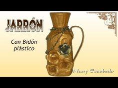 JARRÓN CON BIDÓN PLÁSTICO - YouTube