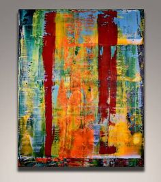 """Large 47/"""" original inspired Art Painting  abstract Fish Dreaming by Jane"""