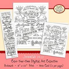 Scripture Digital Printable sticker clip art Bible Journaling Printable Margin Strips Bookmark,Tracers download Bible page kit