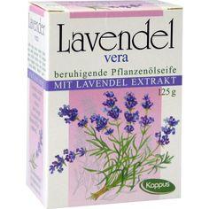 KAPPUS Lavendel Vera Pflanzenölseife:   Packungsinhalt: 125 g Seife PZN: 02485651 Hersteller: M.KAPPUS GmbH & Co. Preis: 1,40 EUR inkl.…