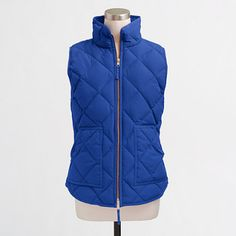 J.Crew+Factory+-+Quilted+puffer+vest.  I LOVE these vests.  They don't add bulk, but are still warm enough.  Can't wait to buy this color!