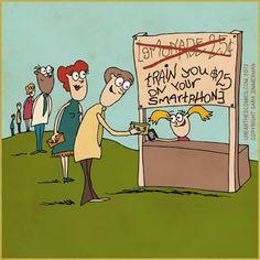 Smartphone Humor | Better than Lemonade! | From Funny Technology - Google+