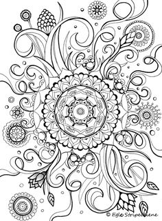 Floral Mandala Coloring Page Book COLORS OF CALM