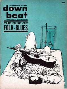 Down Beat jazz cover illustration by David Stone Martin, 1961 Lp Cover, Cover Art, David Stone, Jazz Poster, Film Poster, Jazz Art, Pochette Album, Music Magazines, Vintage Magazines