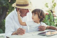Small boy with his grandfather listening music | Flickr - Photo Sharing!