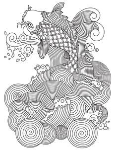 Carp | Colorish: coloring book for adults mandala relax by GoodSoftTech