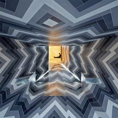 Architects Lily Jencks and Nathanael Dorent were commissioned by tile showroom Capital Designer Studio to craft a pop-up installation in London's Primrose Hill to show just what one can do with porcelain tile. The results are a trippy, Op Art-inspired space called Pulsate.