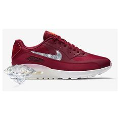 Nike Air Max 90 Ultra Made With Swarovski Crystals Noble red/summit.