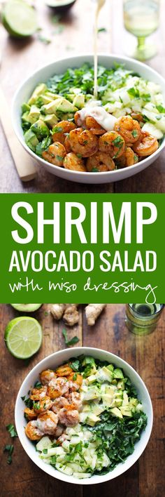 This Spicy Shrimp and Avocado Salad has cucumbers baby kale shrimp and avocado…
