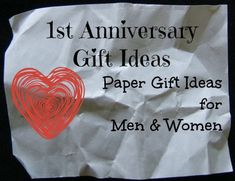 My surprise for my husband the first anniversary gift is paper