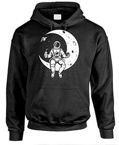 8d763543a LAUNCH BREAK - astronaut nasa moon space - Mens Pullover Hoodie