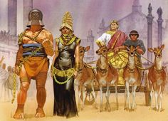 """""""Zenobia paraded through the streets of Rome before the Emperor Aurelian's triumphal chariot, 274 AD"""""""
