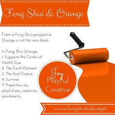Feng Shui and the colour orange.