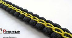 Chain stitched paracord bracelet pattern.