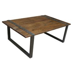 Have to have it. Reclaimed Old Elm Iron Cocktail Table $737.50