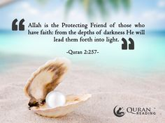 """Allah is the Protecting Friend of those who have faith: from the depths of darkness He will lead them forth into light."" (Quran 2:257)"