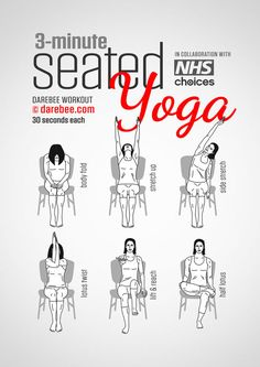 A Three-Minute Yoga Exercise Routine You Can Do While Sitting At Work