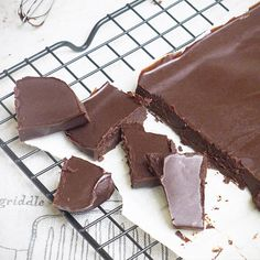Raw Chocolate Bark- 1 cup raw cacao powder, 3/4 cup raw coconut oil, 1/2 cup pure maple syrup, Pinch of salt