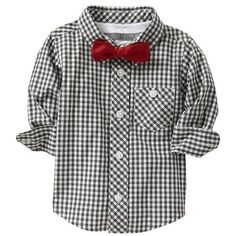 Old Navy Checked Shirt & Bow Tie Sets For Baby ($16) ❤ liked on Polyvore featuring baby, baby clothes, baby boy, kids and baby stuff