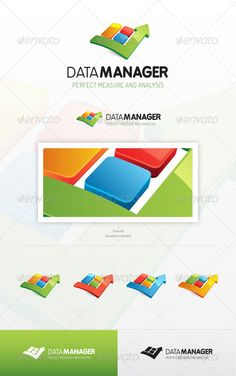 Data Manager - Logo Design Template Vector #logotype Download it here: http://graphicriver.net/item/data-manager-logo/7198527?s_rank=1453?ref=nesto