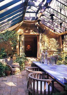 Inside conservatory....