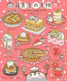 Cute Kawaii Animals, Cute Animal Drawings Kawaii, Kawaii Art, Dessert Illustration, Kawaii Illustration, Illustration Simple, Illustration Vector, Cute Food Drawings, Cute Cartoon Drawings