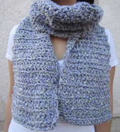 Blue ish Infinity Knit Scarf by BerrysCreations on Etsy, $25.00