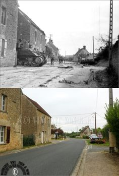 Then and now... Saint-Lambert-sur-Dives, Normandy. August 18, 1944.