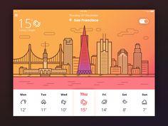 Weather App – User interface by Tubik Studio