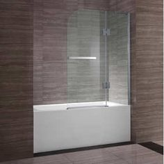 Appollo Archer 40 in. Pivot and Slide Bathtub Screen Chrome Finish Aluminum Frame 6 mm in. Bathroom Renos, Small Bathroom, Bath Screens, New Condo, Shower Doors, Exterior Doors, Costco, Chrome Finish, Kitchen And Bath