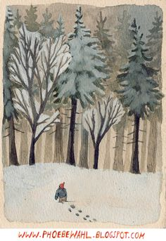 winter, this gave me an idea , cut photos of trees out of magazines/catalogues and collage on a watercolor  background