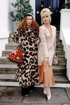 Save these stylish outfit ideas to get the look of Edina + Patsy from Absolutely Fabulous.
