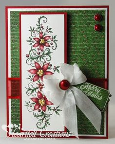 Heartfelt Creations | Merry Christmas Poinsettia Border