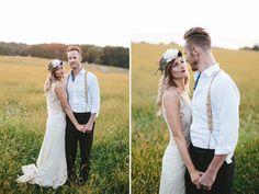 vintage indie bride and groom @weddingchicks