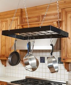 Look at this Black Rectangle Pot Rack on #zulily today!