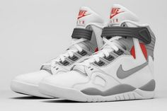 5c0cf18e5d86 Nike Air Pressure Color White Cement Grey-Varsity Red Style Code  831279
