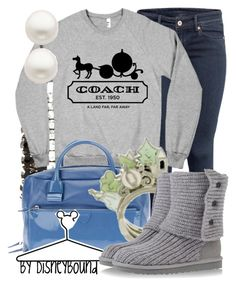 """""""Pumpkin Coach"""" by leslieakay ❤ liked on Polyvore featuring H&M, Charlotte Russe, Marc Jacobs, Disney Couture, Disney, UGG Australia and Reeds Jewelers"""